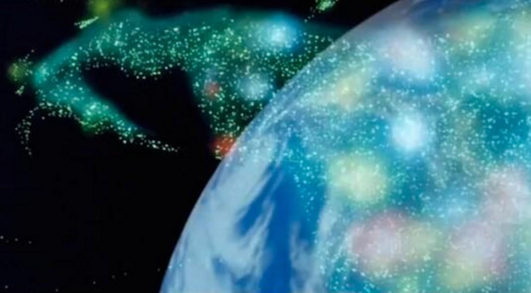 逆襲のシャアの背景で使われた実物の地球儀