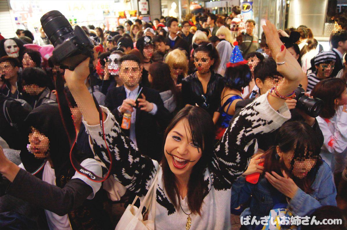 ばんざいお姉さんin渋谷ハロウィン