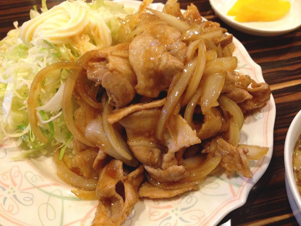 聚楽の生姜焼き定食2