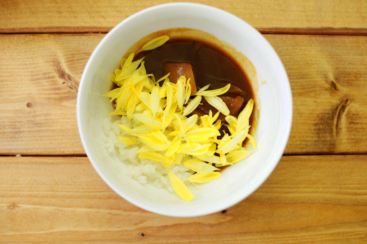 食用菊カレー